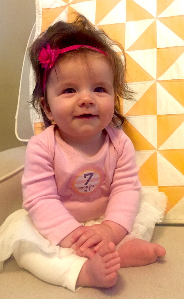 Hilary is 7 months old.