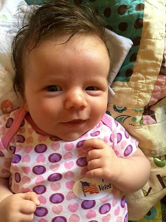 Hilary Hampstead is 6 weeks old on August 3 2016