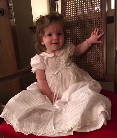 Hilary in her Baptism Dress
