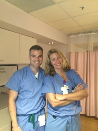 Hilary's birthing medical team
