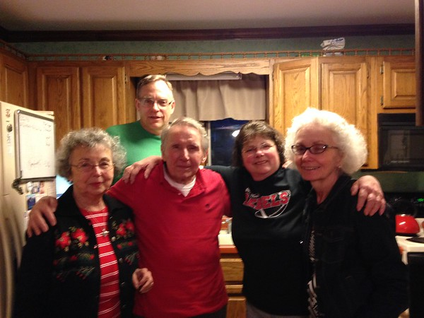 Having known Terry Campbell (at right) from our years in Westford, MA Mary and I shared a meal with them at Frank & Donna's home.