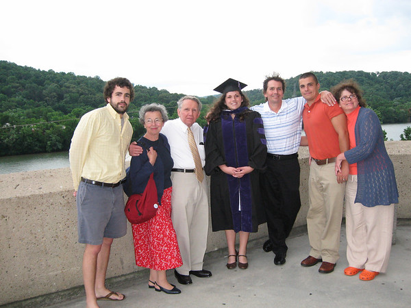 Ryan graduates with bachelor's degree in law.<br /> L-R Grandson Randy, Mary, Jim, Ryan Frank, Grandson Rory and Donna