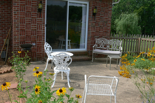 Patio seating for family and guests