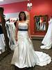 Ryan at her wedding dress fitting