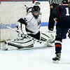 Longmeadow goalie Kayla Brown makes the save on a point blank shot