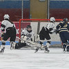 Longmeadow goalie Kayla Brown makes the stick save on a Shrewsbury shot to keep the score 0-0 in the first period