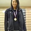 166 Longmeadow Jerrica Li 100 Freestyle 1st Place Medal