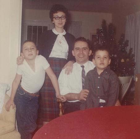 Celebrating Christmas in 1963.
