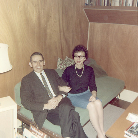 Jim and Mary Lacey at home in Cambridge, Ohio. Jim worked at RCA Surface Communications Division from 1960 until the facility closed in 1965.
