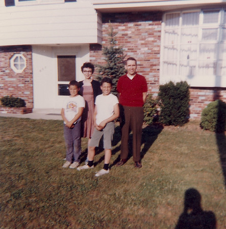 The Cherry Hill NJ Laceys in front of our tri-level home.