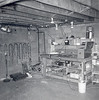 Basement workshop in Cherry Hill NJ home. The workbench was designed and built in Ft Wayne IN. It was readily disassembled for transportation. The workbench is still in use in our Paris TN garage.