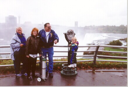 John Lacey and Family Members. Lisa Gruss, second from left, arranged the tour.