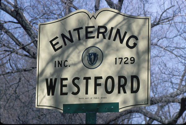 Massachusetts cities and towns each have a similar sign.