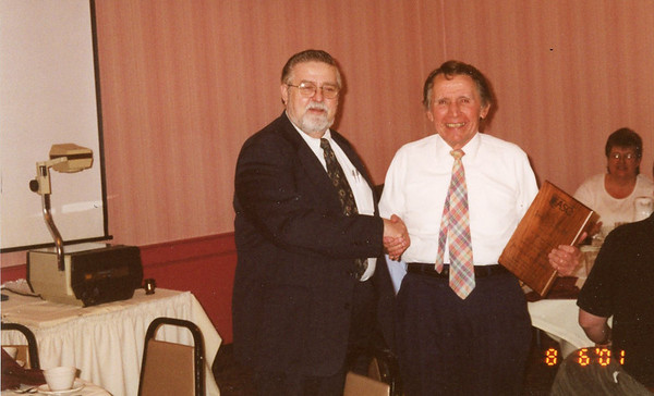 Jim Lacey received John Pizar award for service to the Merrimack Valley Section of the American Society for Quality.