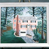 Mary Lacey's oil painting of Westford MA home in the early years.
