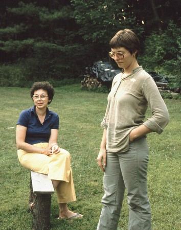 Mary Lacey (L) with friend Debbie Rossi