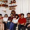 Lacey Family social circa 1986. L>R Mary Lacey, Debbie Rossi, Jim Lacey IV (with cat Sundae), Donna Harvey-Lacey with son Rory, Frank Lacey, Jim Lacey III