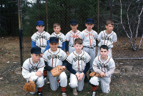Frank's Westford MA Little League baseball team - Frank is second from left in first row.