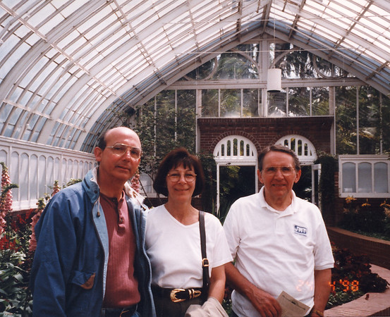 Jim 3 with Frank and Mary Bonini at Pittsburgh Phipps Conservatory