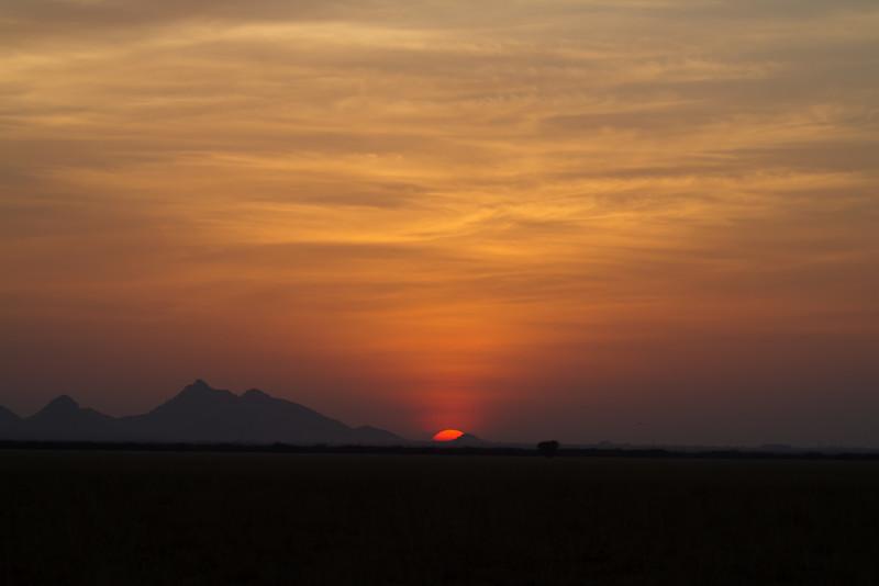 sunset at tal chapar
