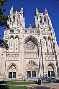 The Front Facade of the National Cathedral