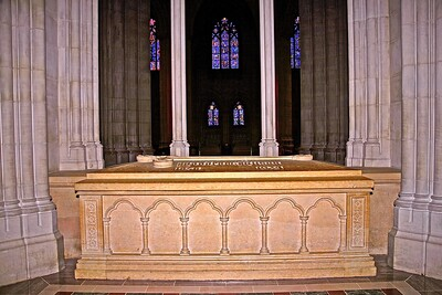 The Tomb of President Wilson in the National Cathedral