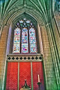 Stain Glass Window in the Baptistry of the National Cathedral