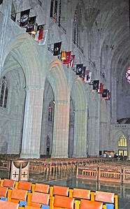 The State Flags in the Nave of the Cathedral