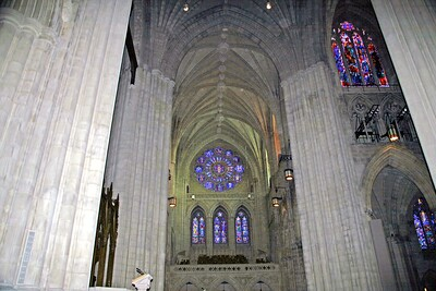 The Beautiful North Transept of the National Cathedral
