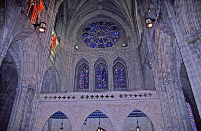 The Rose Window in The North Transept of The National Cathedral