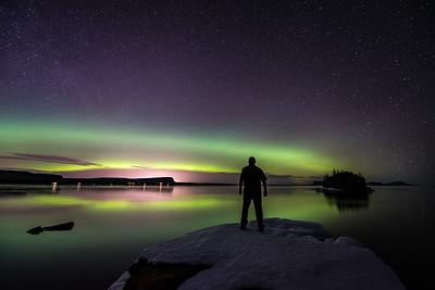 "AURORA 2187  ""Aurora Borealis, Sturgeon Bay""  Lake Superior - Ontario, Canada"