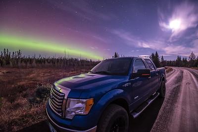"""AURORA 4154  """"My Aurora Hunting Partner""""  Superior National Forest, MN"""