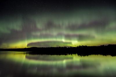 "AURORA 2841  ""Here comes the storm!""  Pine Lake near Grand Marais, MN - October 7, 2015"