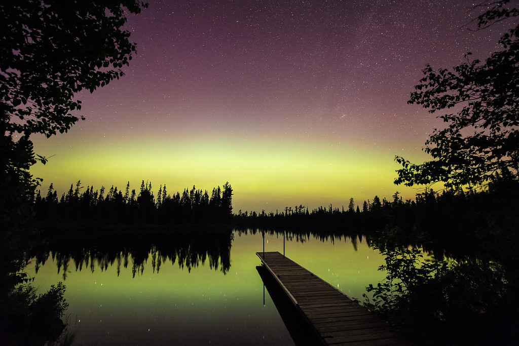 "AURORA 6950<br /> <br /> ""A subtle yet beautiful show""<br /> <br /> Northern Lights on July 10, 2015"