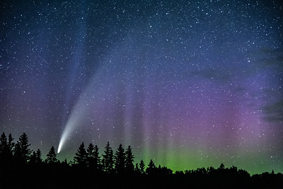 """Comet NEOWISE and Aurora Pillars"""