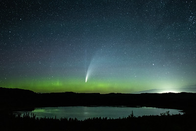 """A Little Aurora and Comet NEOWISE"""