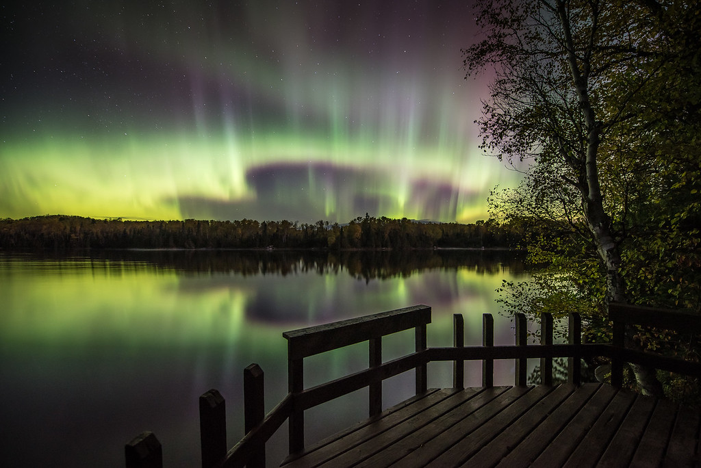 "AURORA 2851<br /> <br /> ""October Aurora over Pine Lake""<br /> <br /> Cook County, MN - October 7, 2015"