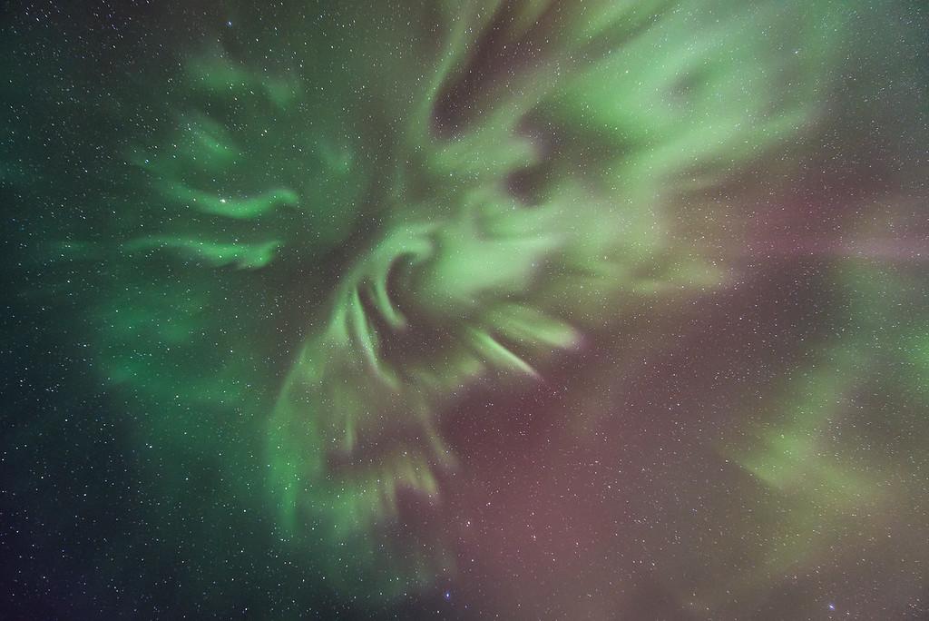 "AURORA 4076<br /> <br /> ""The Eye of the Storm""<br /> <br /> Northern Lights on April 15, 2015"
