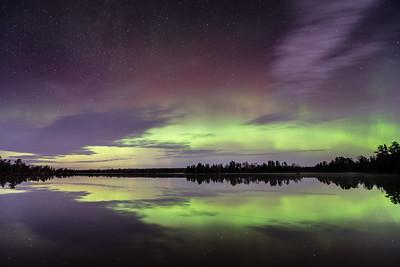 "AURORA 4180  ""November Lights over Kawishiwi Lake""  Northern Lights over Kawishiwi Lake on November 3, 2015 - Superior National Forest, MN"