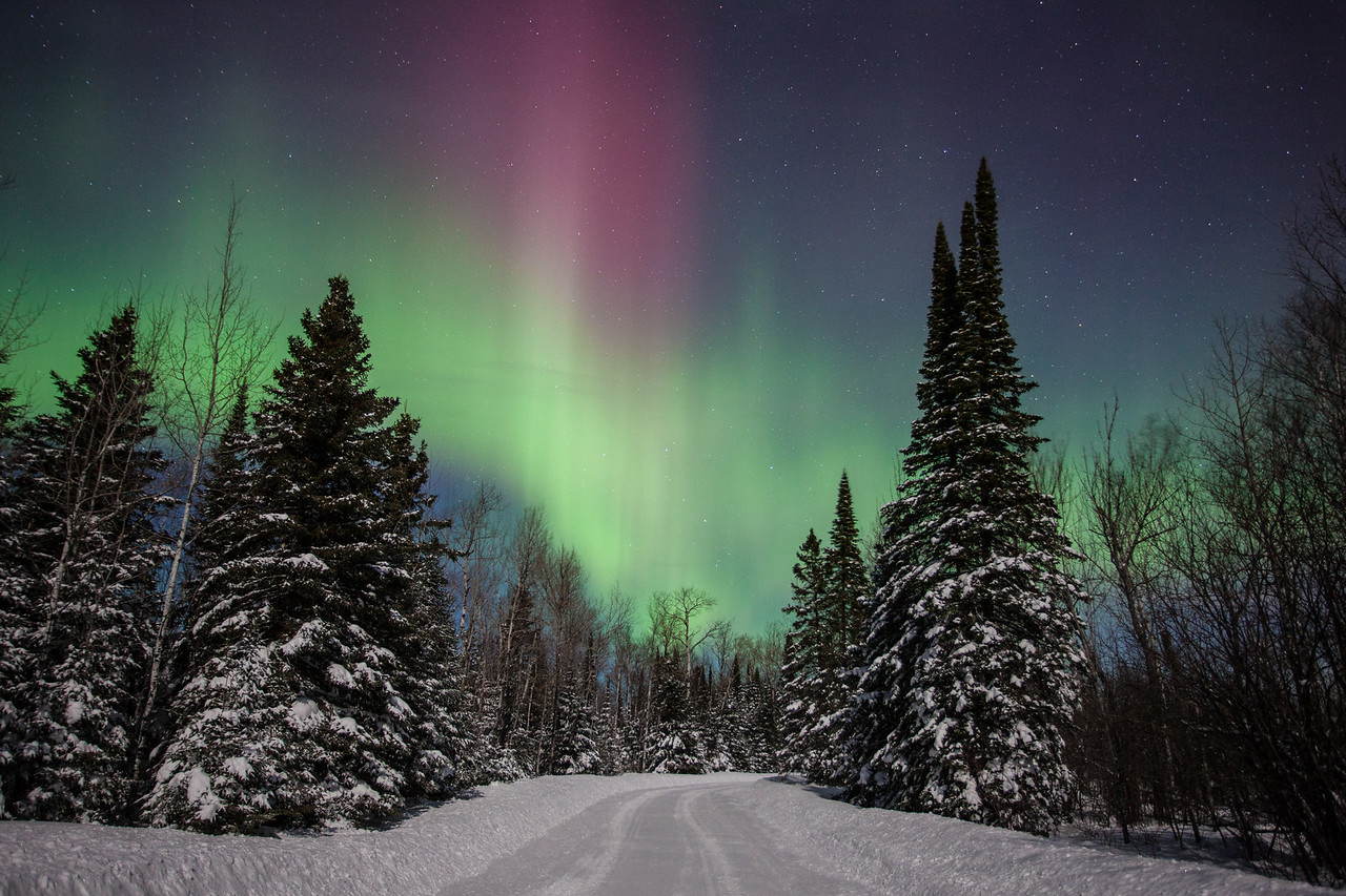 "AURORA 1605<br /> <br /> ""Road to the Aurora""<br /> <br /> Northern Lights on February 19, 2014"