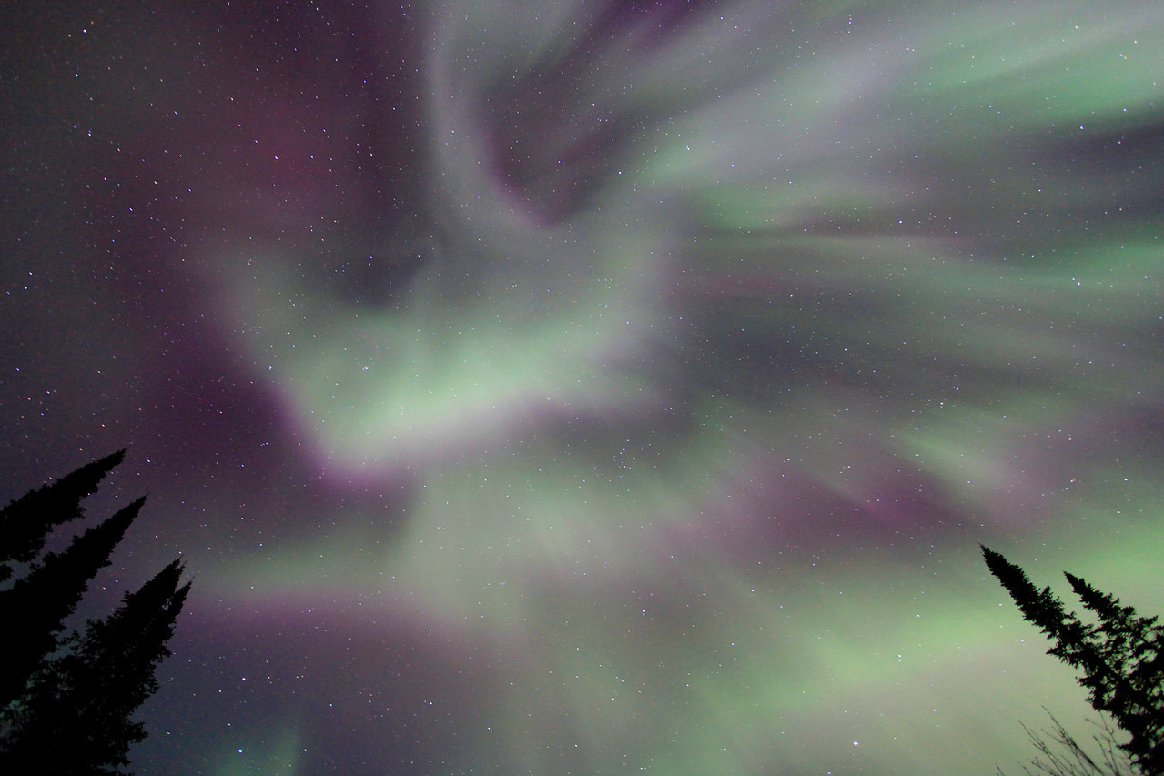 "AURORA 6881<br /> <br /> ""Aurora Explosion""<br /> <br /> Northern Lights on April 24, 2012"