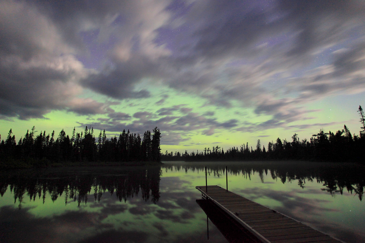 "AURORA 0814  ""Northern Lights over Devilfish Lake""  July 9, 2012"