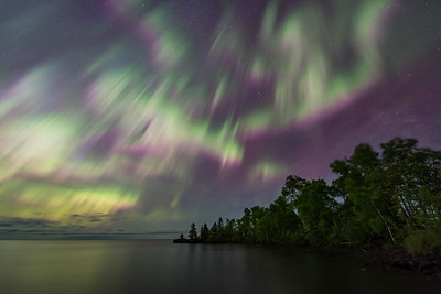 "AURORA 6420  ""Lake Superior Lights""  Northern Lights on June 23, 2015"