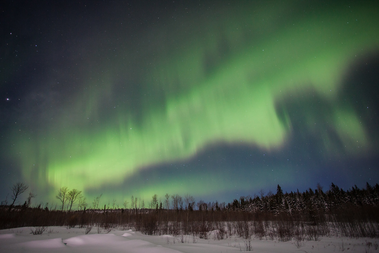 "AURORA 1214<br /> <br /> ""The Green Wave""<br /> <br /> Northern Lights on February 19, 2014"