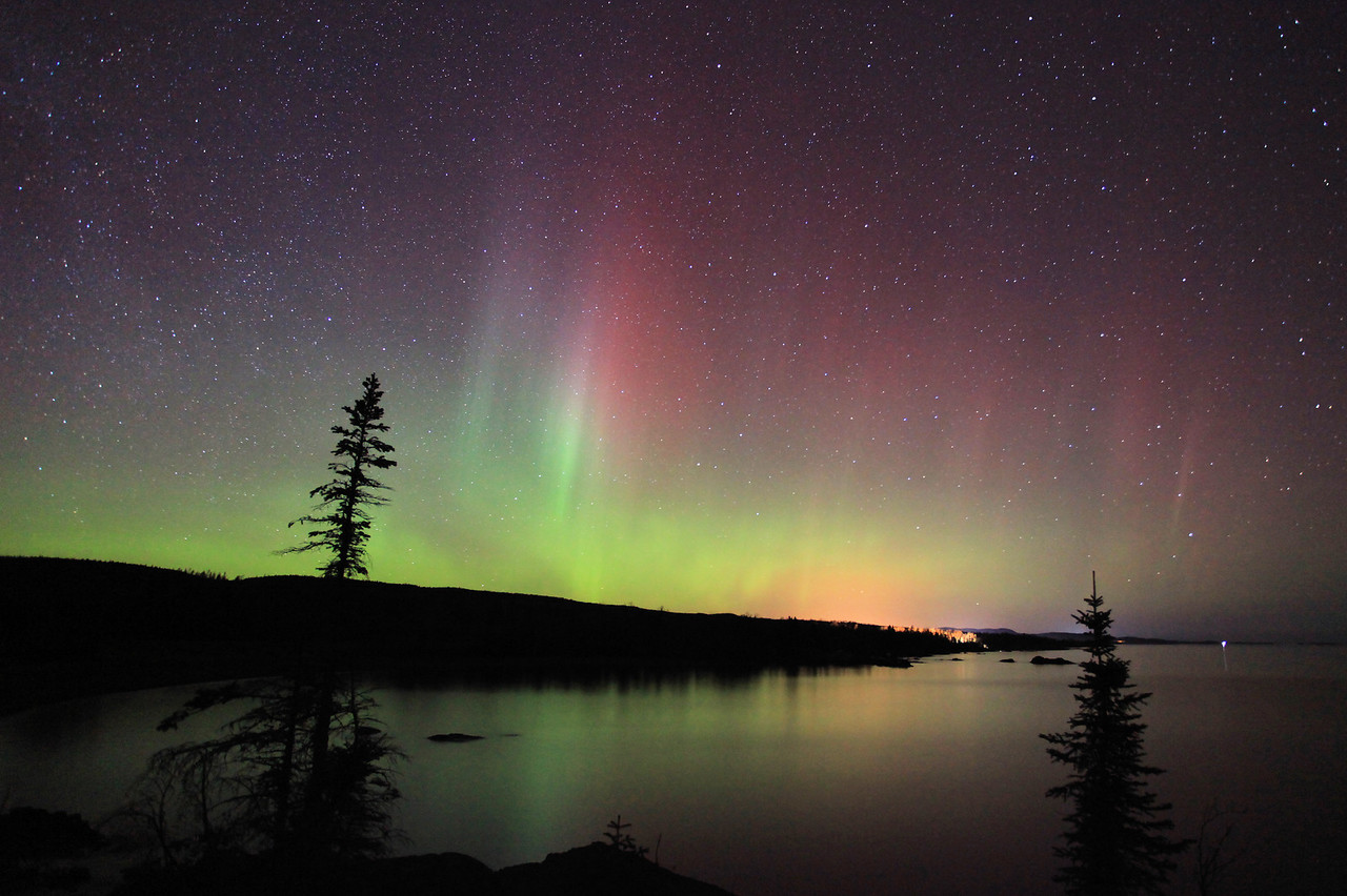 "AURORA 5247<br /> <br /> ""Lake Superior Aurora - Grand Portage, MN""<br /> <br /> Northern Lights on March 15, 2012"