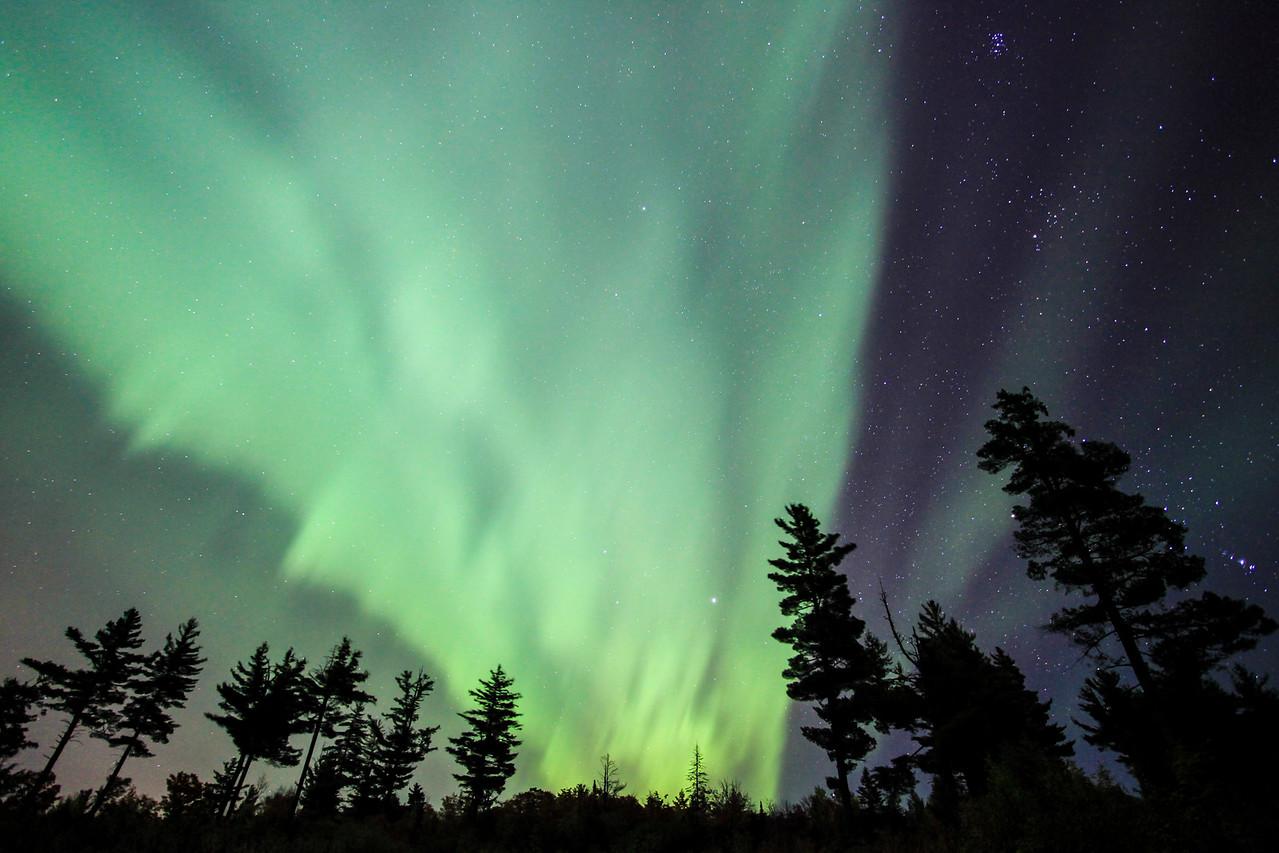 """AURORA 1871<br /> <br /> """"Aurora Funnel Cloud""""<br /> <br /> Northern Lights on October 2, 2013"""