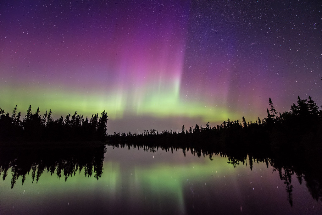 "AURORA 6982<br /> <br /> ""An Entertaining Night""<br /> <br /> Northern Lights on July 11, 2015"