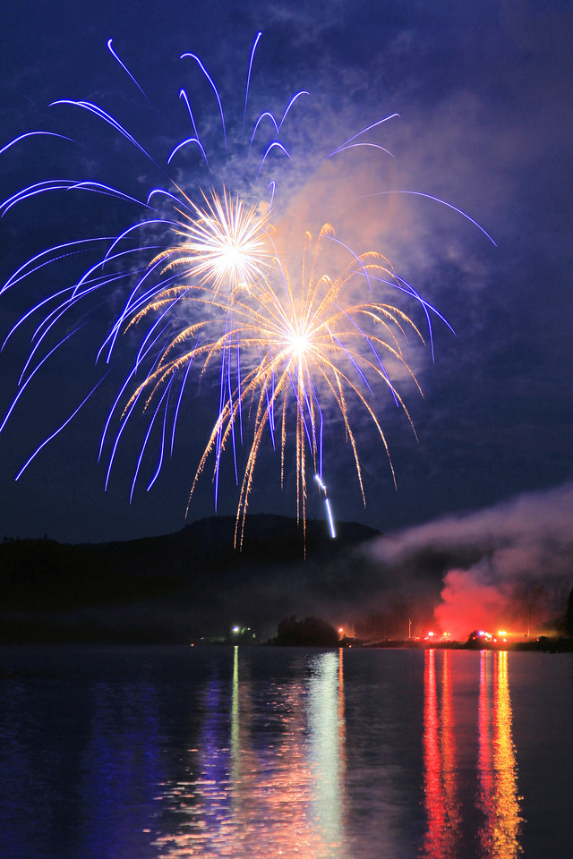 "FIREWORKS 0594<br /> <br /> ""Grand Portage Fireworks - July 4, 2012"""