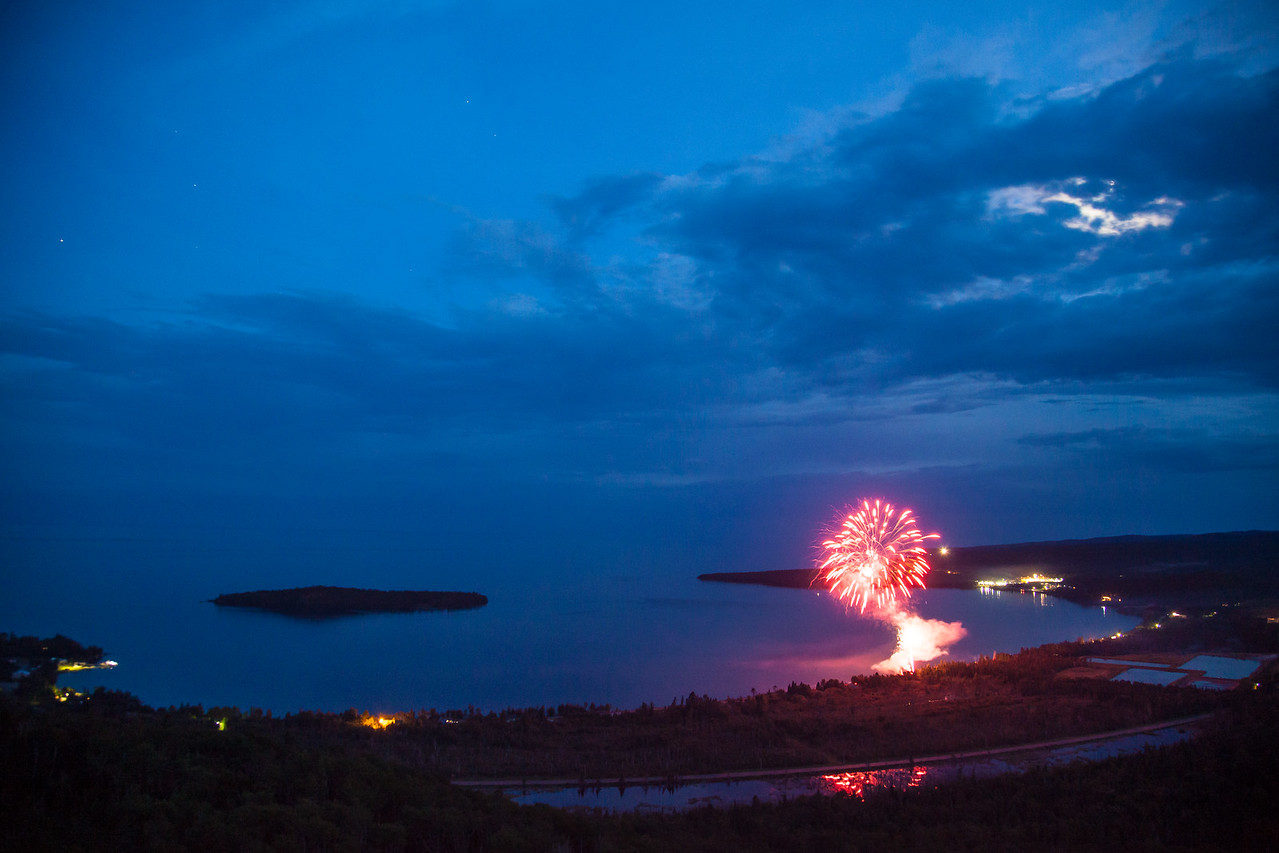 "FIREWORKS 8103<br /> <br /> ""4th of July 2014 over Grand Portage Bay"""