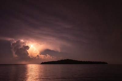 """August Storm over Pete's Island"""